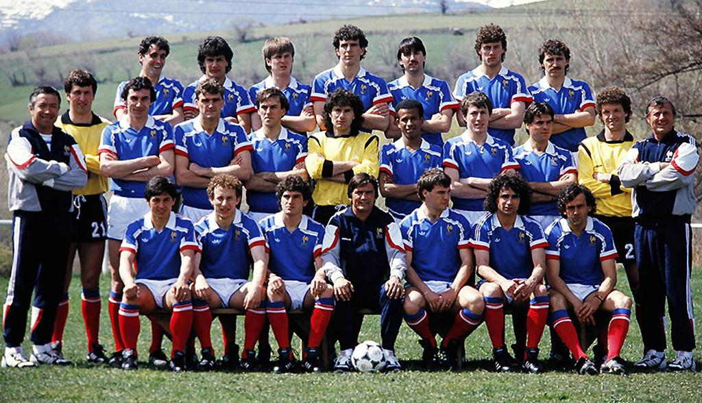 Deux equipe de france coupe du monde 1986 - Ballon coupe du monde 1986 ...